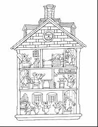 Marvelous Inside House Coloring Pages For Kids With And Preschool