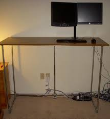 Multiple Monitor Standing Desk by Cheapest Standing Desk The Budget Four Kickstarter Projects