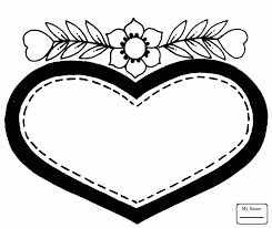 Arts Culture Heart Shaped Earth Coloring Pages