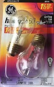 ge 60 watt a15 standard base edison halogen ceiling fan bulb 82115