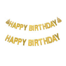 Details About 2Pcs 3m HAPPY BIRTHDAY Banners Garland Hanging Decor For Birthday Party Supplies