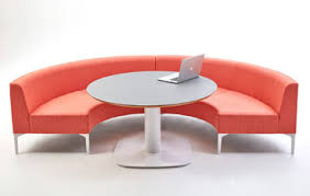 Curved Modular Sofa System With Table