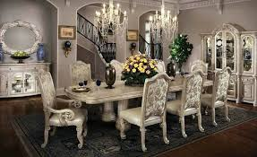 White Formal Dining Room Sets Elegant Furniture Fancy Luxury