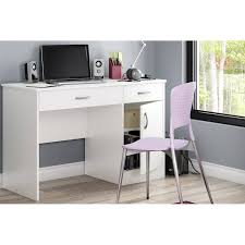 Walmart Computer Desk With Side Storage by South Shore Smart Basics Small Work Desk Multiple Finishes
