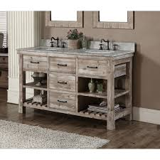 rustic style 60 inch double sink bathroom vanity free shipping