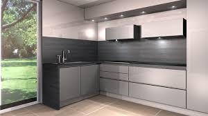 cuisine grise et plan de travail noir stunning meuble de cuisine gris brillant photos design trends