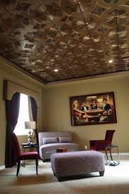 tin ceiling tiles may need to be mattified with matt spray or