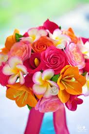 DK Designs Tropical Wedding Bouquet for a Destination Maui Wedding