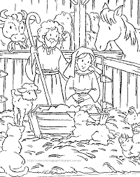 Baby Jesus Coloring Page Nativity