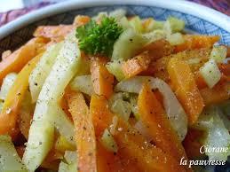 fenouil cuisiner poêlée de fenouil et carottes la cuisine de quat sous