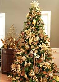 Gold Christmas Tree Decorating Ideas Decorations Red Green And