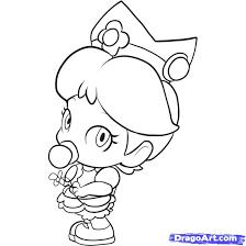 Princess Peach Coloring Sheets