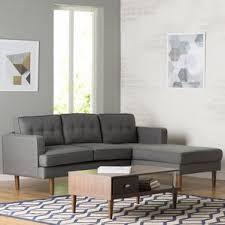 mid century modern sectional sofas you ll love wayfair