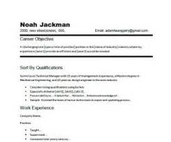 Freshers Resume Examples Of Career Objective