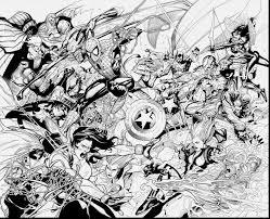 Marvelous Civil War Marvel Avengers Coloring Pages With And