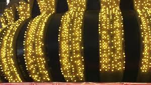 yellow light bulb marquee las vegas loop stock footage