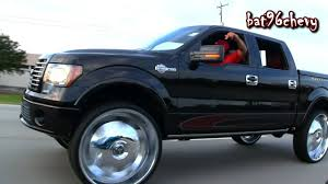 100 Ford Truck Rims 10 F150 LIFTED On 32 Wheels Driving On Highway