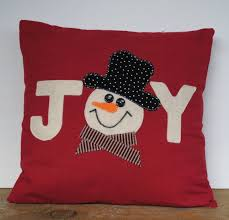 This is a beautiful 18x18 Christmas pillow cover made with home decor dark red linen
