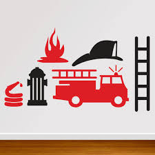 100 Fire Truck Wall Decals Decal Man Decal 3000 Via Etsy Birthday