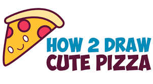 How to Draw Cute Kawaii Pizza Slice with Face on It Easy Step by Step Drawing Tutorial for Kids How to Draw Step by Step Drawing Tutorials