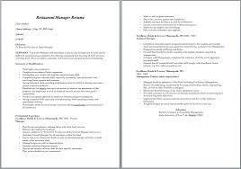 20 Free Restaurant Manager Resume Samples