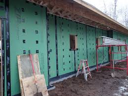 The Walls Were Sheathed With Huber Zip System OSB Although Says That There Is No Need To Tape Or Seal Nail Penetrations I Thought It Was Worth