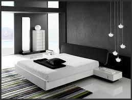 Interior Minimalist Black And White Bedroom Design Elegant Room Designs