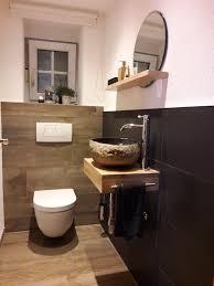 renovierung gäste wc fließen holzoptik und anthrazit