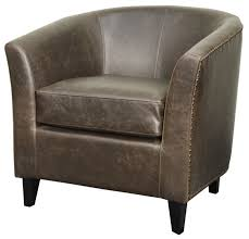 100 V01 Buy New Pacific Direct 353021BB Orson Bonded Leather Tub Chair Black Legs Vintage Dark Brown At Contemporary Furniture Warehouse