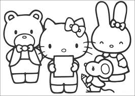 Hello Kitty Face Coloring Pages