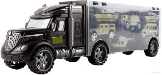 100 Hot Wheels Car Carrier Truck Wolvol Military Transport Rier Toy For Kids Includes 6