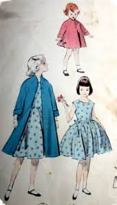 Vintage 1950s Butterick 7671 Girls Dress And Coat By Denisecraft 1099