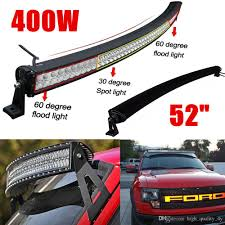 100 Truck Light Rack 52 Inch 400W High Power Curved LED Bar For Boat Off Road