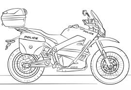 Click To See Printable Version Of Police Motorcycle Coloring Page