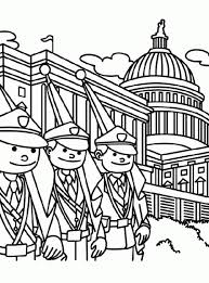 Soldier And White House On Memorial Day Coloring Page Batch