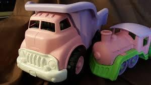 100 Pink Dump Truck Green Toys Plastic Lot Of 7 Piece Train Sports