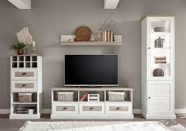 wohnwand colorado 274cm pinie weiß eiche antik wohnzimmer anbauwand
