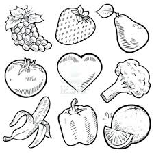 Fruits Vegetables Coloring Worksheets Vegetable Soup Pages Fruit Printable Book Pdf