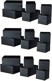 ikea skubb aufbewahrungsbox schwarz 18 stück