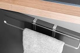 mistermountain universal handtuchhalter für die schranktür küchentuchhalter aus edelstahl ohne bohren oder schrauben halterung für handtuch