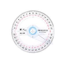 1pcs 360Degree 10cm Protractor Angle Finder Sewing Student fice