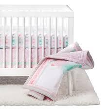 crib bedding set elephant parade 4pc cloud island pink target