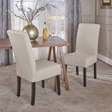 T-stitch Pattern Beige Fabric Dining Chair (Set Of 2) By Christopher ...