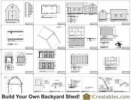 10 X 16 Shed Plans Gambrel by 10x20 Gambrel Shed Plans 10x10 Barn Shed Plans