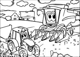 John Johnny Tractor Coloring Page Easy Sheets Free Online Pages Kubota