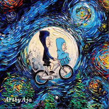 Beavis And Butthead Halloween Cornholio by Beavis And Butthead Inspired Art Starry Night Print Van Gogh