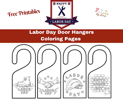 Labor Day Door Hangers Coloring Pages