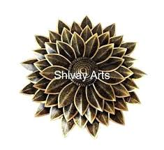 Floral Metal Hanging Wall Decor Iron Flower Stickers
