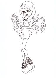 All About Monster High Dolls Spectra Free Printable Coloring Pages