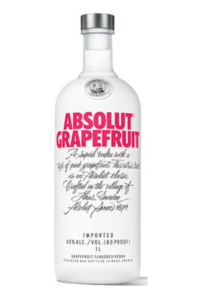 Absolut Grapefruit Vodka, 750 ml